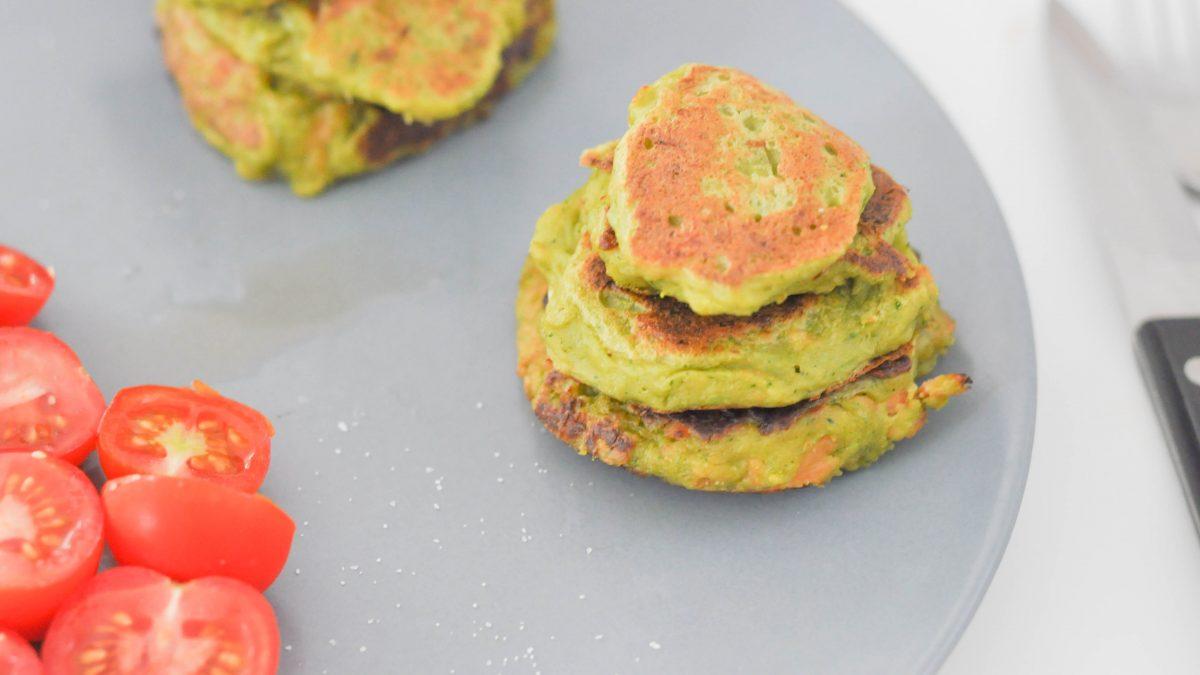 Les galettes toutes vertes : brocolis, Kiri saumon fumé