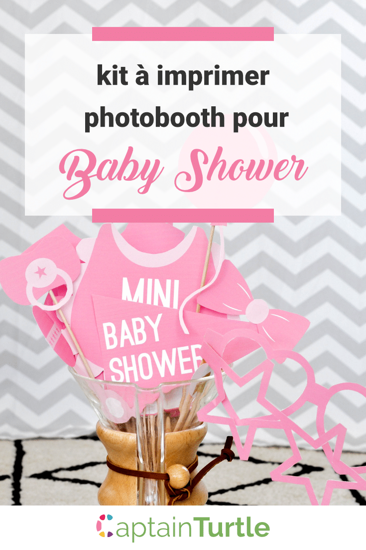 baby shower accessoires photobooth imprimer fille gar on. Black Bedroom Furniture Sets. Home Design Ideas